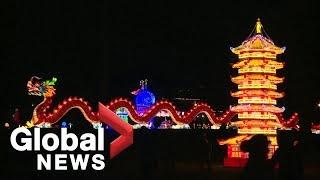 Chinese lantern festival lights up Estonia
