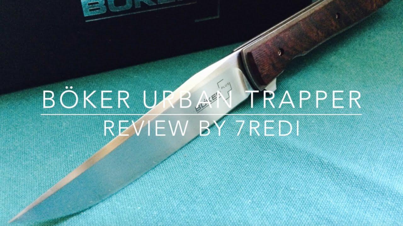Böker Urban Trapper Cocobolo - Ultra Light Titanium Flipper! - YouTube
