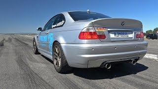 950HP BMW M3 E46 GTX42 Turbo - Top Speed 1/2 Mile Accelerations!