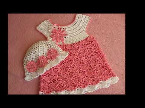 детские платья вязанные крючком 2019 Childrens Knit Crochet
