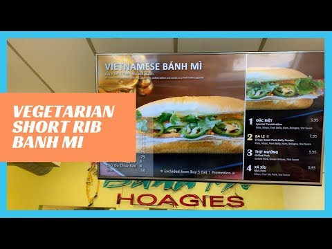 Vegetarian Short Rib Bahn Mi and more at Ba Le in South Philly!