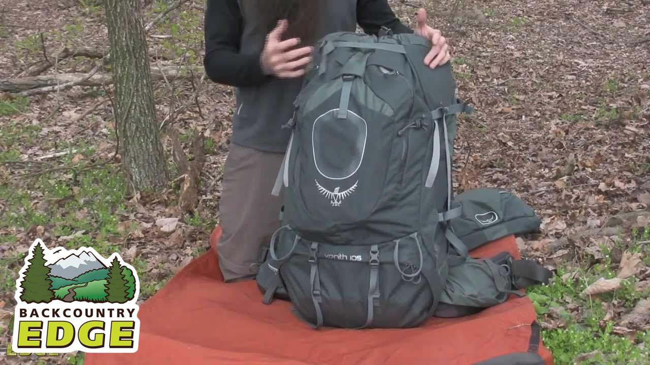 osprey xenith internal frame backpacks youtube