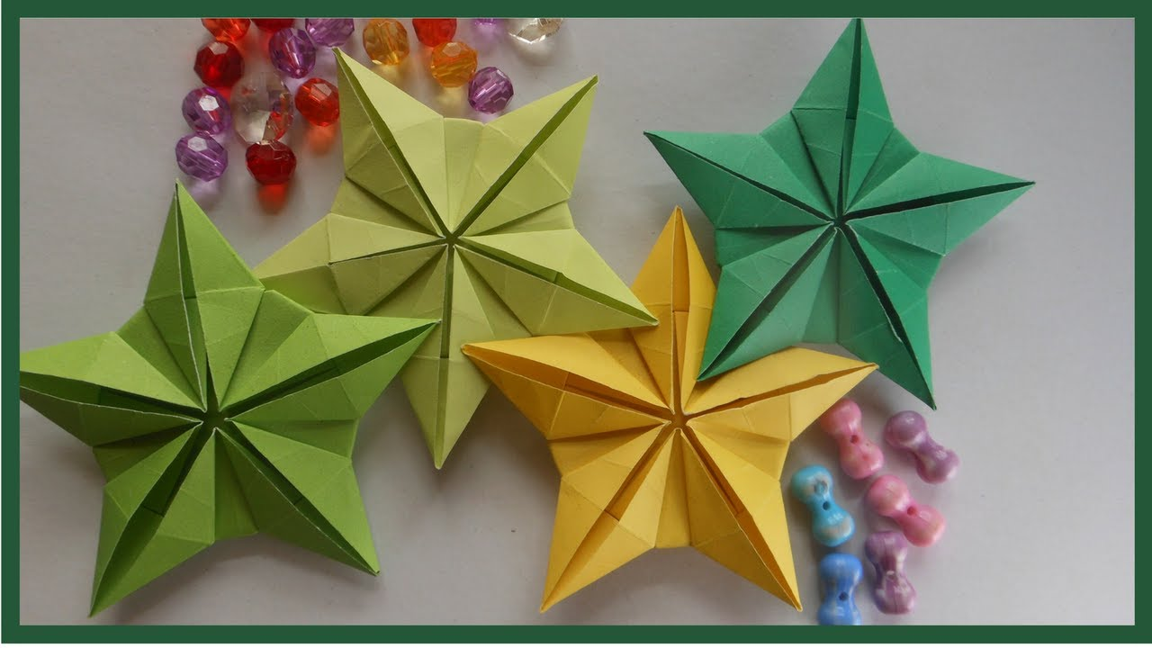 Easy origami star flower instruction for beginners|DIY Paper Crafts ...