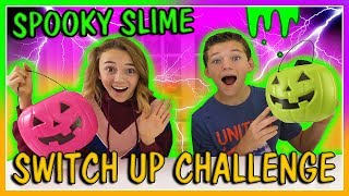 SPOOKY SLIME INGREDIENT SWITCH UP CHALLENGE  We Are The Davises