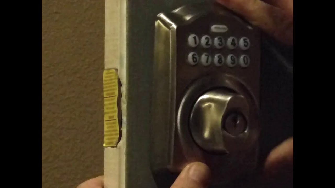 Install Keyless Front Door Lock Easy Youtube