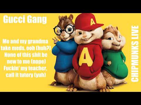 Lil Pump - Gucci Gang (Chipmunks Cover With Lyrics)