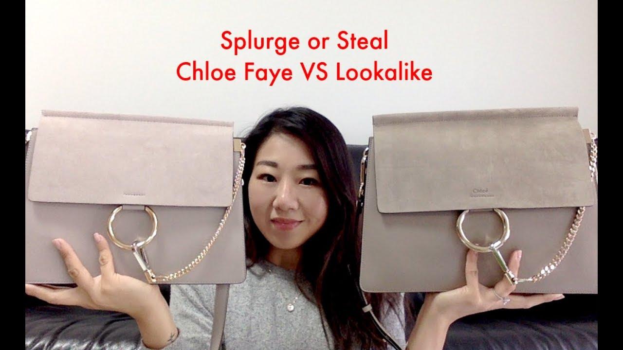 6ff276152b5e1 Splurge or Steal Chloe Faye Large vs Lookalike - YouTube