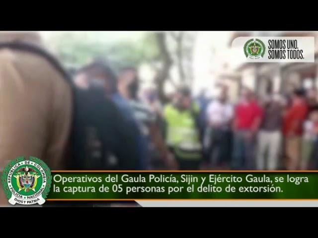 Capturan tres presuntos extorsionistas en Plaza de Bolivar de Armenia
