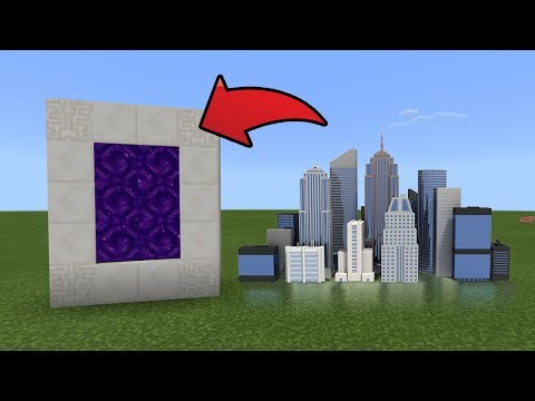How To Make A Portal To The City Dimension In MCPE (Minecraft PE)