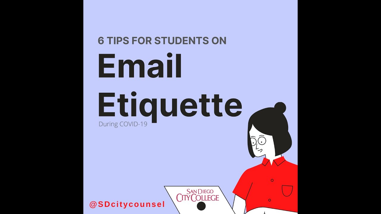 Email Etiquette for Students (SDCC ...