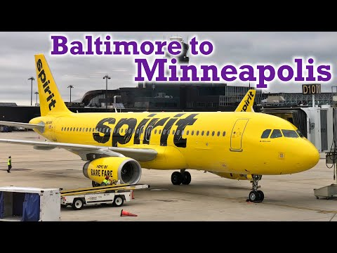 Full Flight: Spirit Airlines A320 Baltimore to Minneapolis (BWI-MSP)