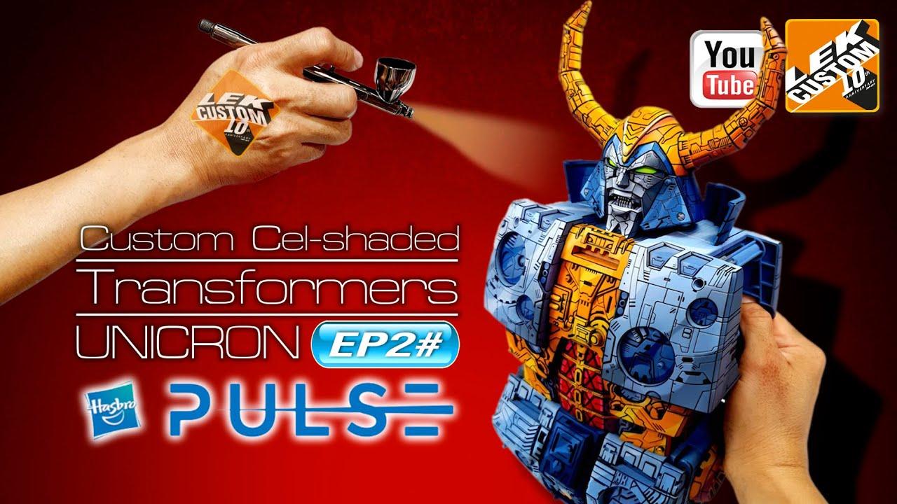 Custom Cel-shaded Haslab Transformers UNICRON by LEK Custom Toys 2021