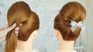 3 Minute Elegant Bun Hairstyle For Wedding & Party - Quick Hairstyles | Try On Hairstyles