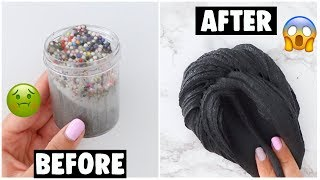 EXTREME SLIME MAKEOVERS *fixing my 1 year old slimes*