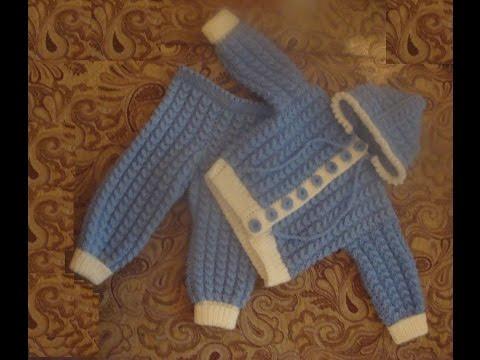 Костюмчик для малыша спицами Часть 2 suit for baby