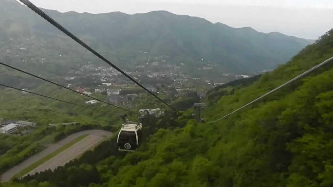 箱根ロープウエイ 大涌谷から早雲山まで車窓 - YouTube
