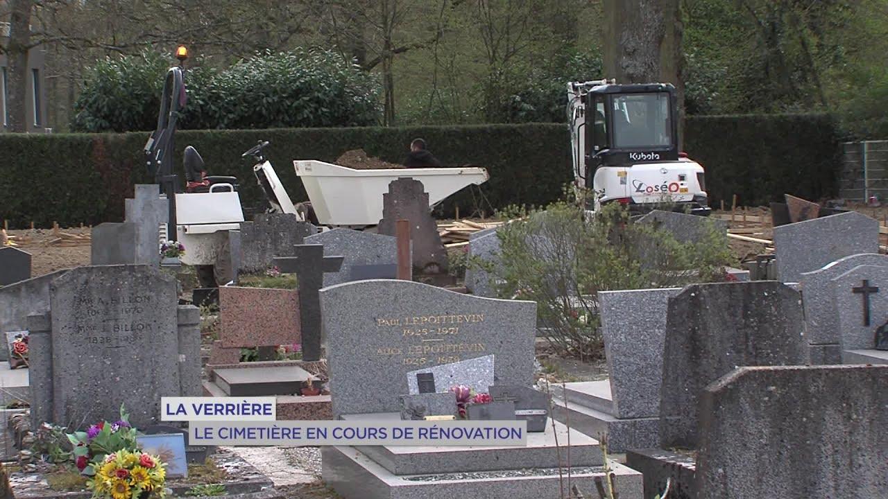 Yvelines   La Verrière : Le cimetière en cours de rénovation
