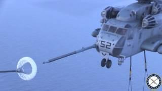 Marine CH-53E Refuels in Midair