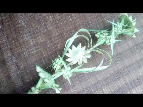 how-to-make-palm-flower-bouquet(used-the-date-tree-leaves)