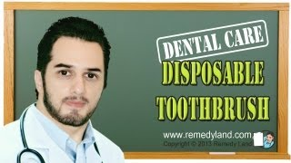 Disposable toothbrush - one time use toothbrush