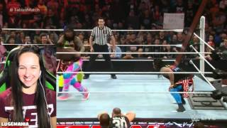 WWE Raw 2/8/16 8 Man Tables Match