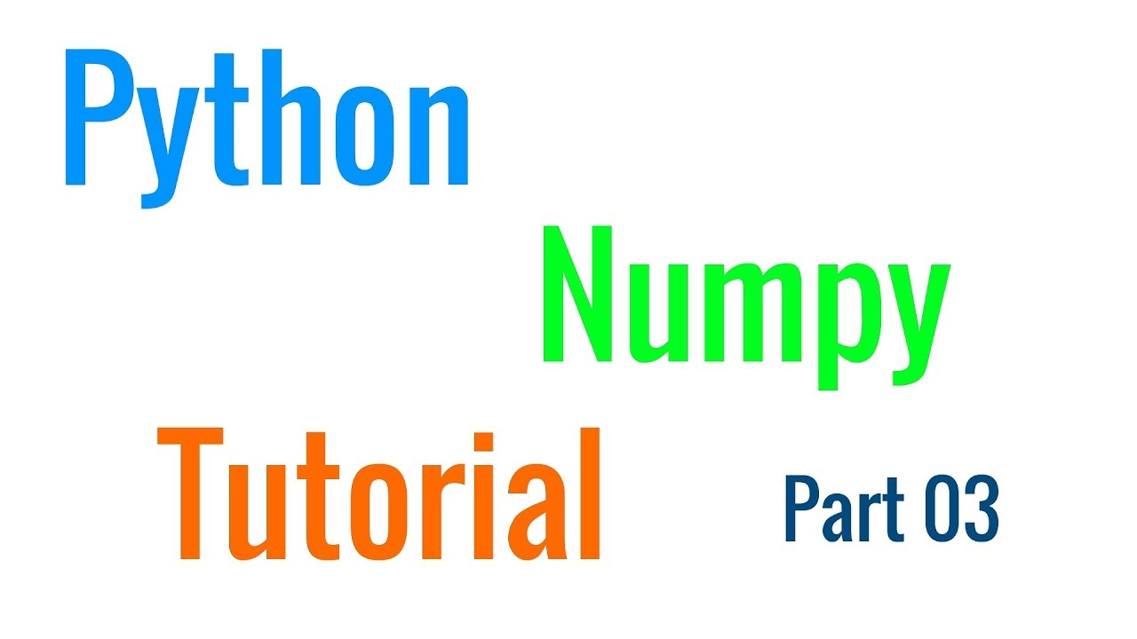 Python NumPy Tutorial 03 - How to Unroll an Array