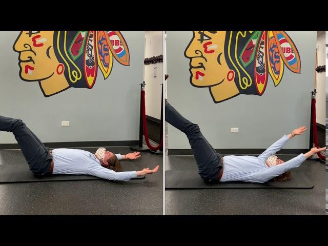 Lying Leg Raises (Advanced)
