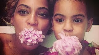 Blue Ivy Adorably Steps into Beyoncé's $745 Glittered Christian Louboutin Heels