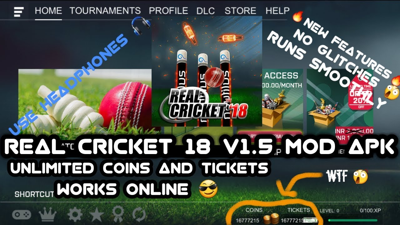 Real Cricket 18 Latest version v1 5 Mod Apk