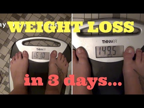 I LOST 12 POUNDS IN 3 DAYS!!! My experience...