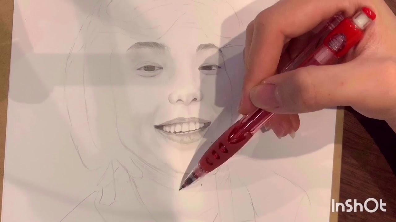 Vẽ tranh chân dung bằng bút chì. Pencil drawing