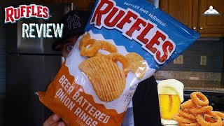 Ruffles® Beer Battered Onion Rings Potato Chips Review! 🍺🧅🥔