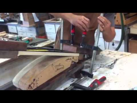 Steam bending chair components