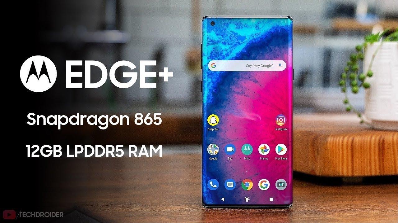 Motorola Edge Plus *Snapdragon 865* - FIRST LOOK! - YouTube