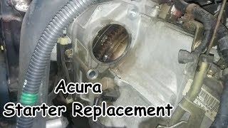 Acura 3.2L TL / CL Starter Motor Replacement