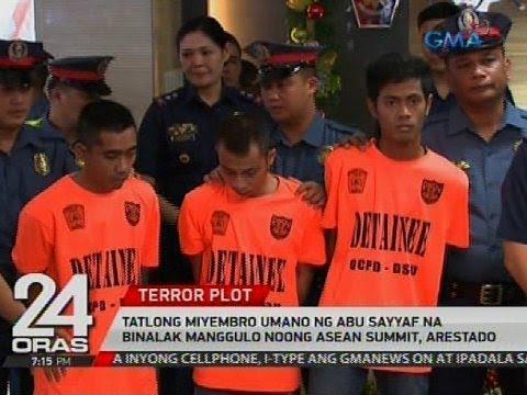 Tatlong miyembro umano ng Abu Sayyaf na binalak manggulo noong ASEAN summit, arestado
