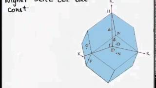 Mod-01 Lec-05 Reciprocal Lattice Ii, Brillouin Zone And Bragg's Diffraction Condition