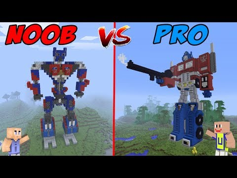 minecraft:-noob-vs-pro---robot-noob-vs-robot-transformers