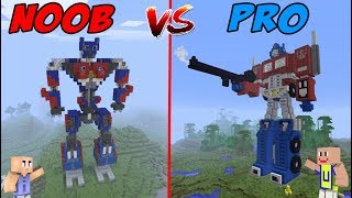 MINECRAFT: NOOB VS PRO - Robot Noob VS Robot Transformers