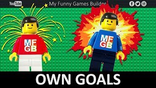 Top 10 Own Goals in Lego Football Film • Funny Own Goals