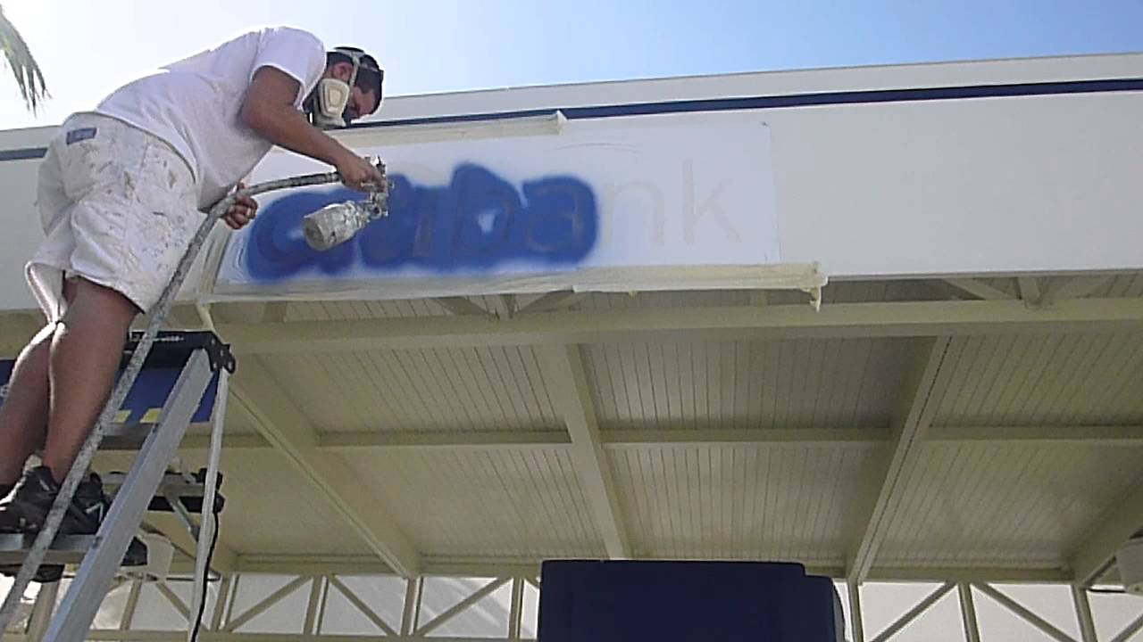 How To Paint On Fabric Canvas Awnings In Florida Youtube