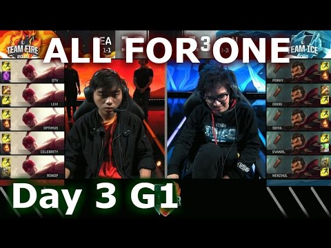 SEA (Lee Sin) vs LAN (Graves) One For All Mode | 2016 LoL IWC All-Stars Day 3 | FIRE vs ICE