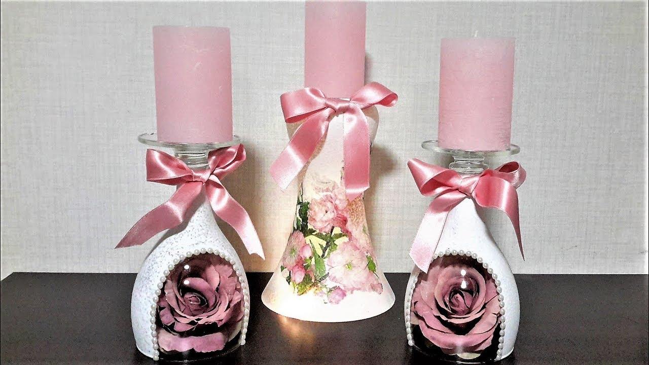 ПОДСВЕЧНИКИ СВОИМИ РУКАМИ ИДЕИ КАК СДЕЛАТЬ ДЕКОР... Hand-made candlestick