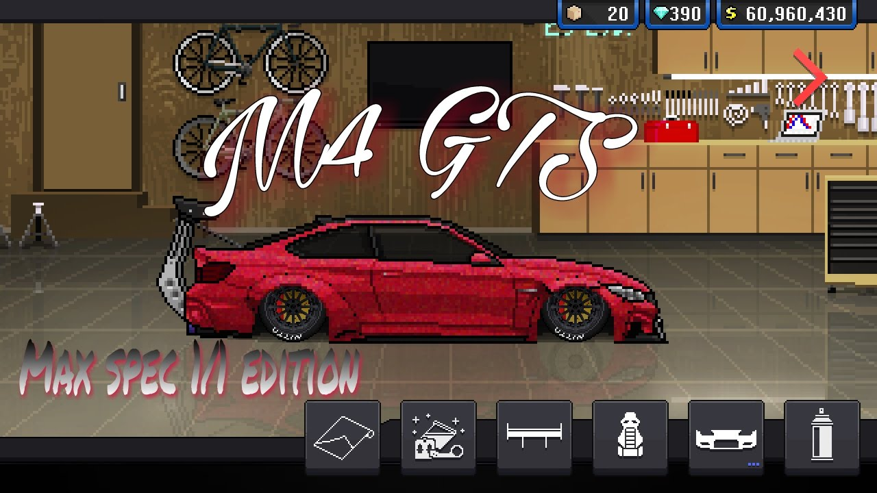 Pixel Car Racer M4 Gts 6 Second Tune 1 1 Edition Youtube