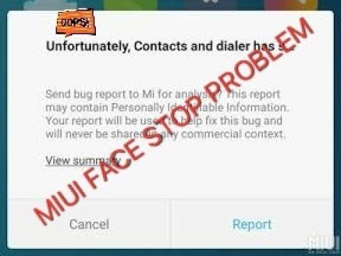 How to Fix miui Unfortunately this App has stopped working or Not Responding' errors on our devices