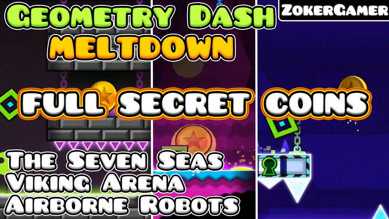 All secrets geometry dash meltdown