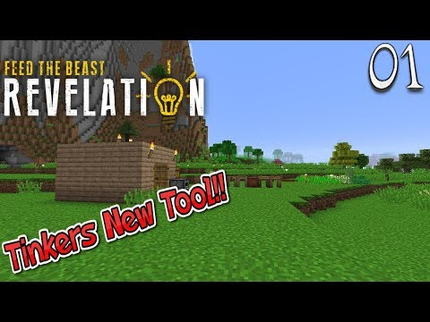Lets Play Feed The Beast Revelation - Tinkers New Tool (1)