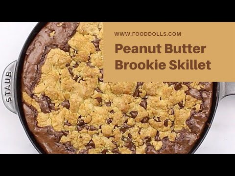 Peanut Butter Brookie Skillet