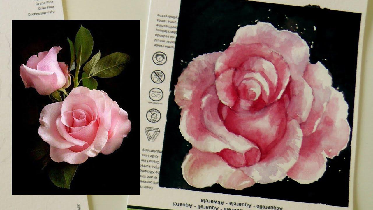 Tutorial Acuarelas: Como dibujar y pintar una ROSA realista by ART ...