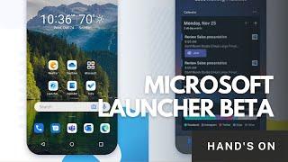Microsoft Launcher Beta Hand's On screenshot 3